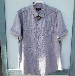 Ben Sherman Button Down Shirt in Grey